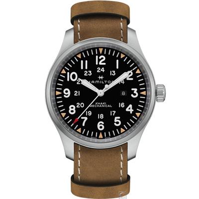 Hamilton 漢米爾頓Khaki Field 大三針機械錶(H69819530)