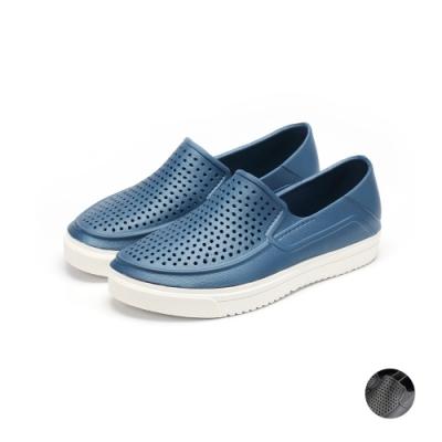 ARRIBA艾樂跑男鞋-輕量防水洞洞鞋-藍/黑(61504)