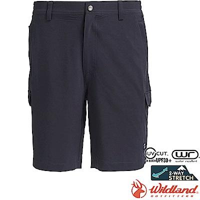 Wildland 荒野 0A71390-95鐵灰色 男彈性抗UV貼袋短褲