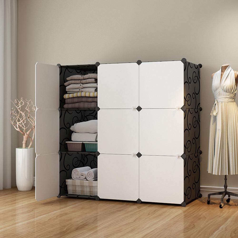 【Mr.Box】加大型9格9門收納櫃/置物櫃/書櫃(黑白款)