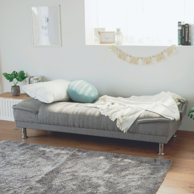 完美主義 日系簡約沙發床/三人座/布沙發(2色)-183X99X75