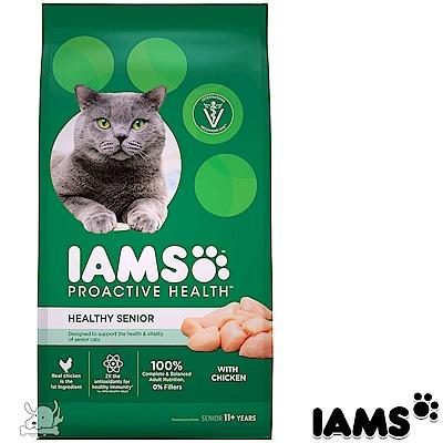 IAMS 愛慕思 健康優活 雞肉 熟齡貓糧 7磅 2包組