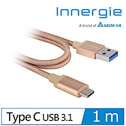 Innergie MagiCable USB-C to USB-A 充電傳輸線 金 1m