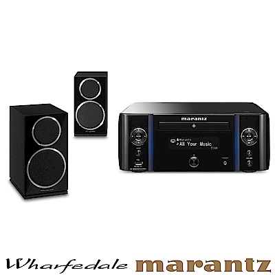 Marantz M-CR611擴大機+Wharfedale Diamond 220喇叭/黑