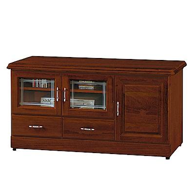 綠活居 莎曼珊4.2尺實木電視櫃(二色可選)-124.5x45x64.5cm-免組
