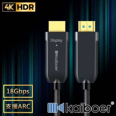 Kaiboer 劇院首選 HDMI2.0光纖二代4K超高畫質影音編織傳輸線 2M