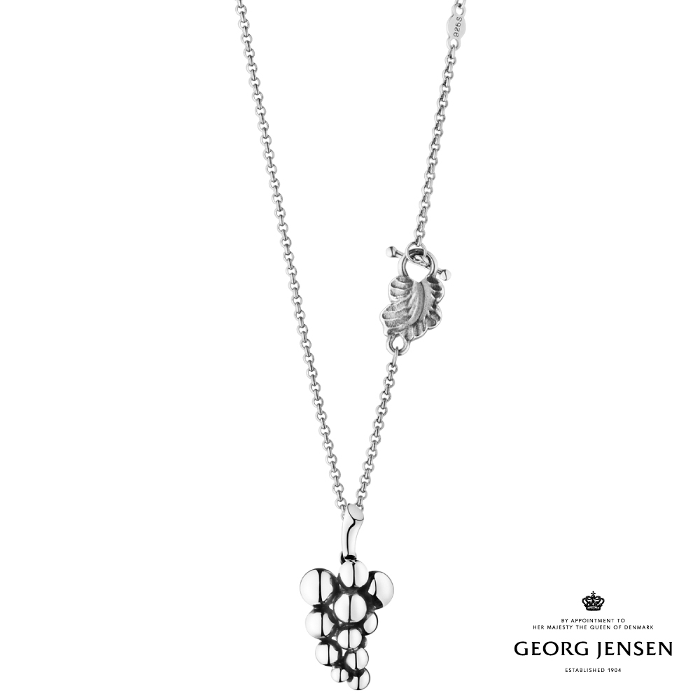 Georg Jensen 喬治傑生 MOONLIGHT GRAPES 硫化純銀項鍊,小