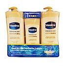 VASELINE 進口潤膚身體乳液-深層修護 600ml x 2 + 295ml x 1