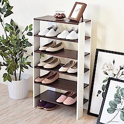 《HOPMA》DIY巧收開放式五層鞋櫃-寬51 x深24 x高91cm