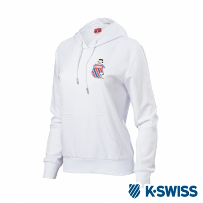 K-SWISS Hood Sweatshirt SNOOPY連帽上衣-女-白