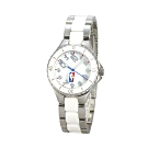 NBA 美國職籃 優雅陶瓷休閒女腕錶-白/32mm