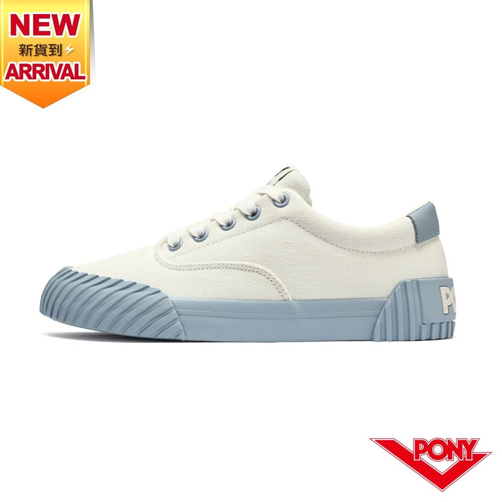 【PONY】SUBWAY2 雙色滑板鞋 帆布鞋 女款-淺紫藍