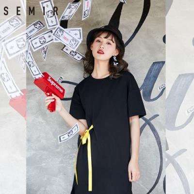 SEMIR-街頭酷勁寬鬆側織帶洋裝