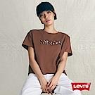 Levis 女款 短袖T恤 250gsm厚棉 植絨豹紋Logo