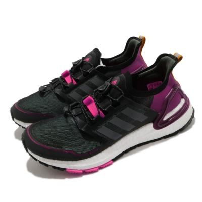 adidas 慢跑鞋 UltraBOOST C RDY 女鞋 愛迪達 三線 路跑 緩震 輕量 反光 黑 紫 EG9803