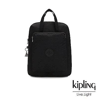 Kipling 極致低調黑手提後背電腦公事包-KAZUKI