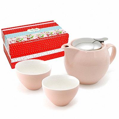 ZERO JAPAN 典藏陶瓷一壺兩杯超值禮盒組(桃粉紅)
