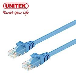 UNITEK 24K鍍金頭CAT6網路線10M(藍色)
