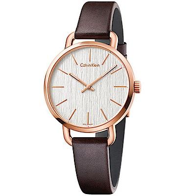 CALVIN KLEIN EVEN木質時尚腕錶(K7B236G6)-36mm
