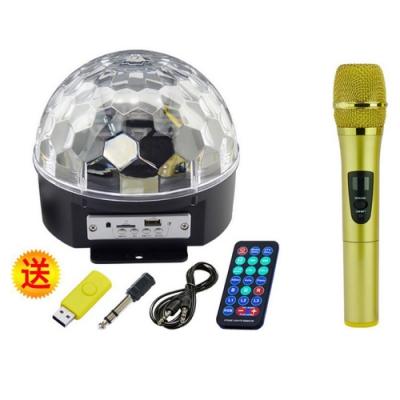 DF-903 行動KTV LED水晶魔球+單支麥克風 無線遙控 藍芽喇叭 舞台燈 K歌神器