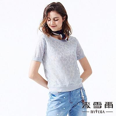 【麥雪爾】立體蕾絲海星花朵針織衫