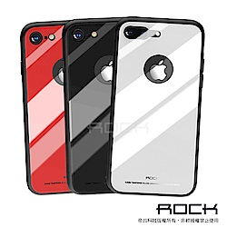 【ROCK】iPhone 7/8 Plus 5.5吋晶瑩系列鋼化玻璃手機保護殼