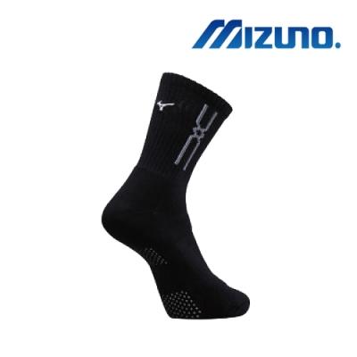 Mizuno 男運動厚底襪(6雙入)黑x白32TX90G891Q