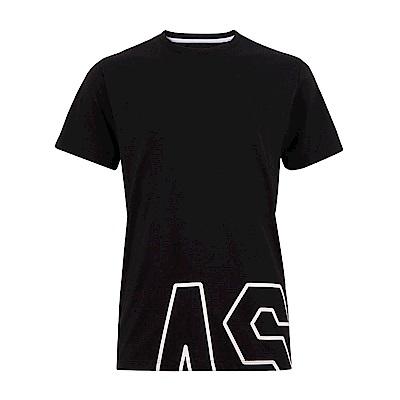 ASICS 男棉感短袖上衣(黑) 2031A868-001