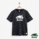 男裝Roots 加拿大系列滿版短袖T恤-黑