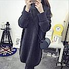 Jilli-ko 韓版高領加厚打底針織衫-深綠/深灰/卡其