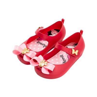迪士尼童鞋 米妮 蝴蝶結微增高公主鞋-桃