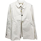 BURBERRY 葡萄牙製經典棉質傘狀風衣外套(白)展示出清