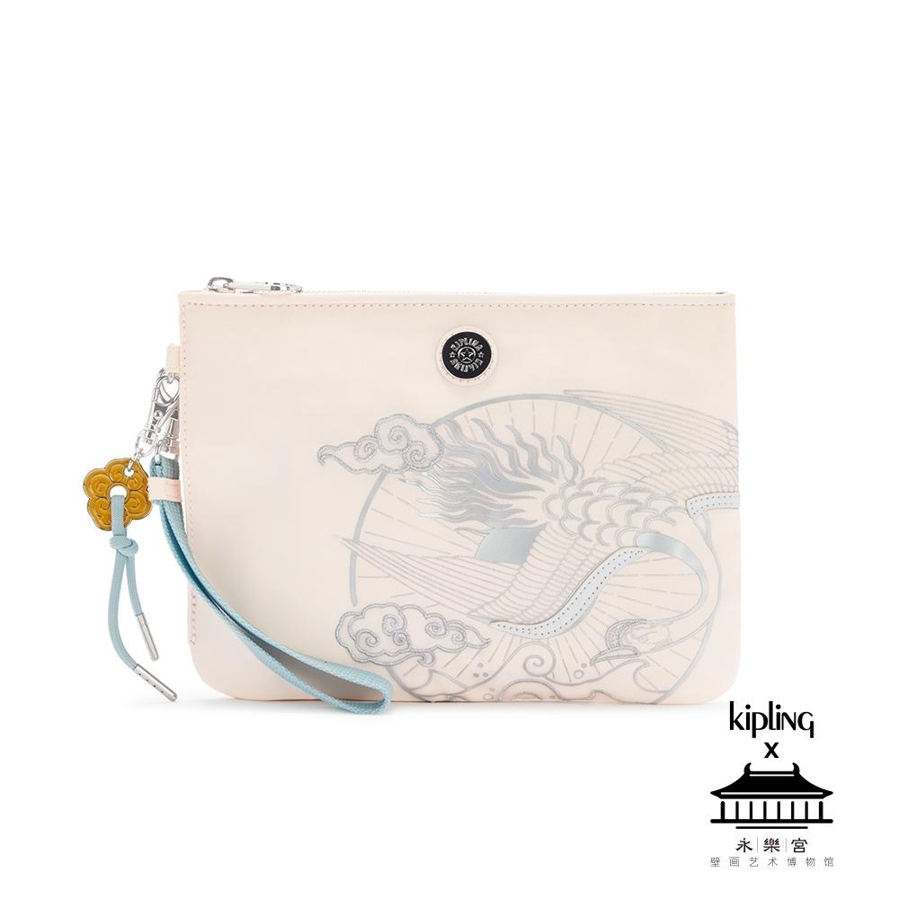 Kipling X 永樂宮聯名系列粉色雲間盛境手拿配件包-ELLETTRONICO