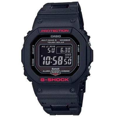 G-SHOCK 太陽能電力藍芽連線經典方形款電子錶(GW-B5600HR-1)/48.9m