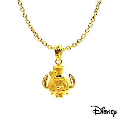 Disney迪士尼系列金飾 黃金墜子-帥氣史迪奇款 送項鍊