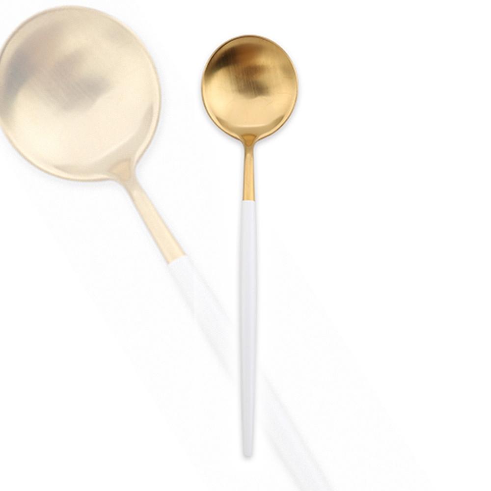 Royal Duke (2入組)葡萄牙同款點心匙/茶匙/咖啡匙-白金色(歐洲時尚簡約)