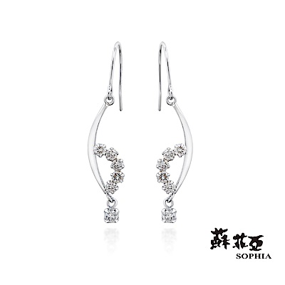 蘇菲亞SOPHIA - 輕珠寶系列愛琴海戀人0.20克拉鑽石耳環