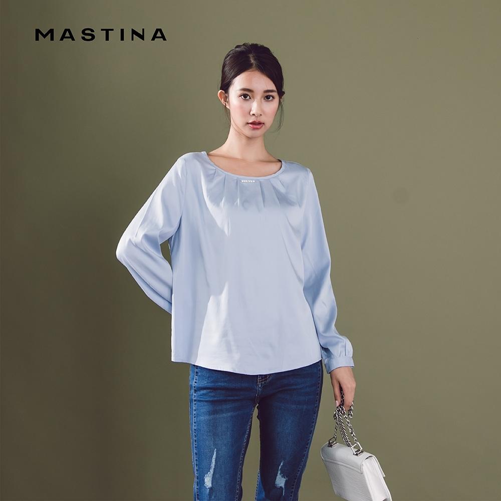 【MASTINA】簡約珍珠裝飾領口-襯衫(二色)