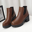 KEITH-WILL時尚鞋館 歐洲站都會風彩兩穿短靴-棕色