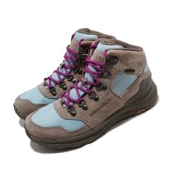 Merrell 戶外鞋 Ontario 85 Mesh WP 女鞋 登山 越野 耐磨 黃金大底 防水 避震 灰 藍 ML035164