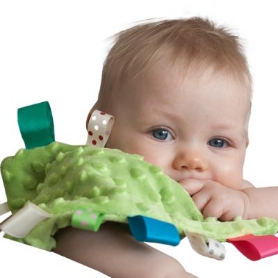colorland【4入】嬰兒安撫巾 彩色標籤泡泡安撫口水巾