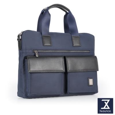 74盎司 Presence 雙口袋造型側背包[G-1048]藍