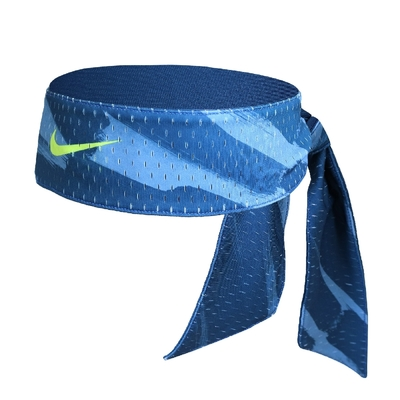 Nike 頭帶 Dri-Fit Head Tie 男女款 吸濕排汗 快乾 雙面 運動 網球 藍 綠 N100303995-6OS