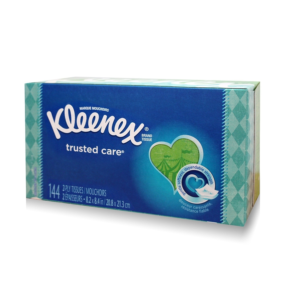 美國 Kleenex超柔盒裝面紙 144抽/️盒 (花色隨機出貨)
