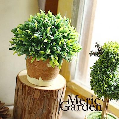 Meric Garden  Zakka風格高仿真植物景觀盆栽(綠半球M)