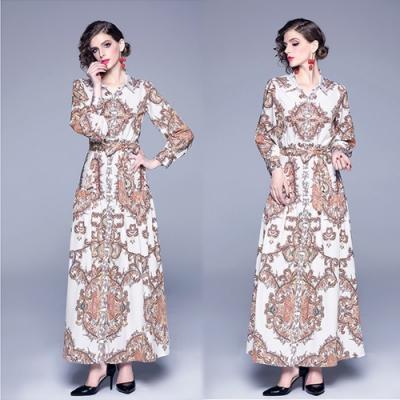 【KEITH-WILL】搭配滿分圖騰印花修身洋裝-1色