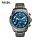 FOSSIL Bronson 星空藍計時手錶 男款 鐵灰色不鏽鋼鍊帶 50mm FS5711 product thumbnail 1