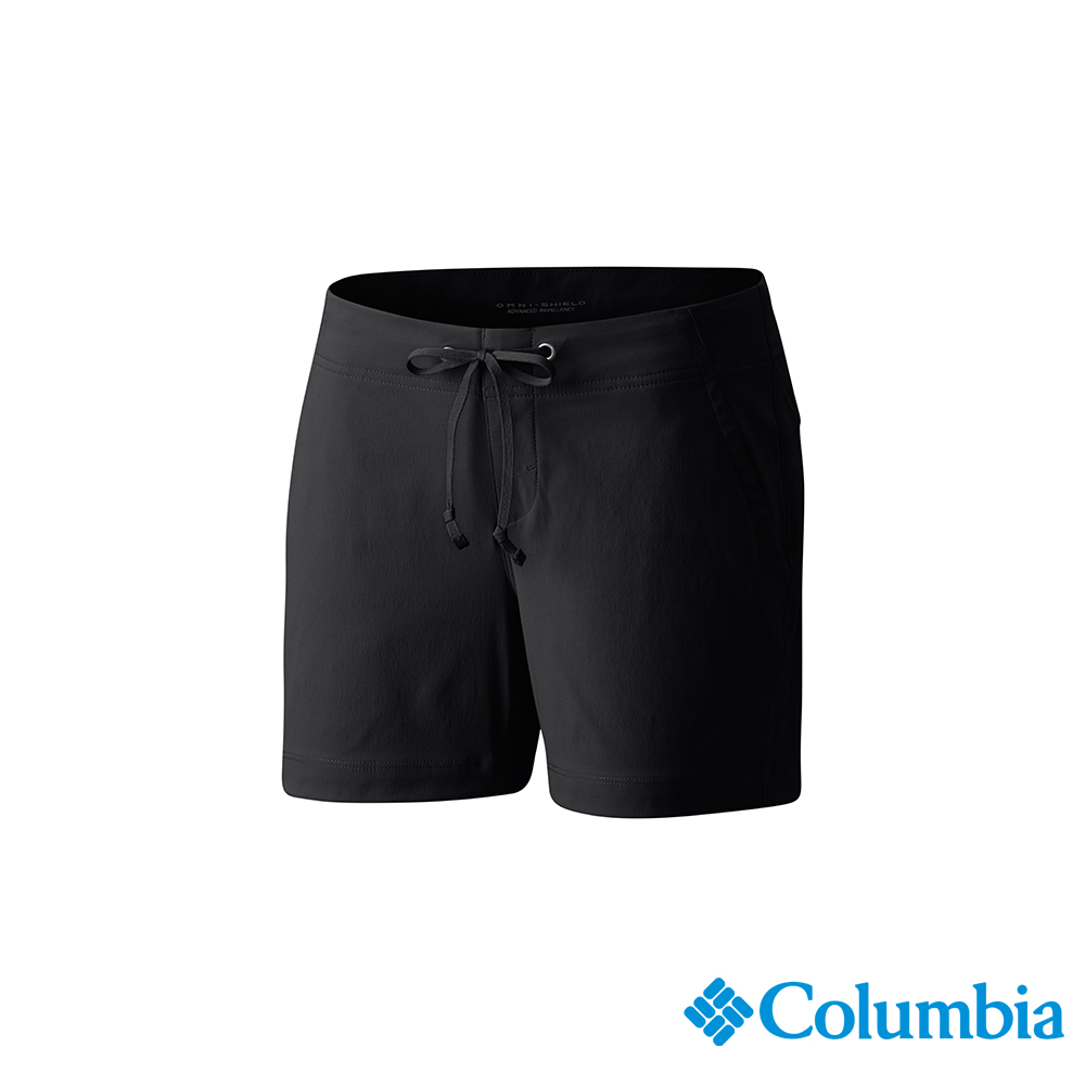 Columbia 哥倫比亞 女款-UPF50 防潑短褲-黑色 UAR40140BK