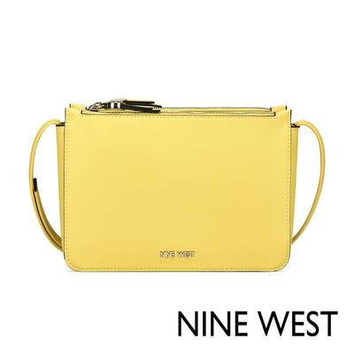 福利品 NINE WEST PROSPER雙層拉鍊小方包-黃