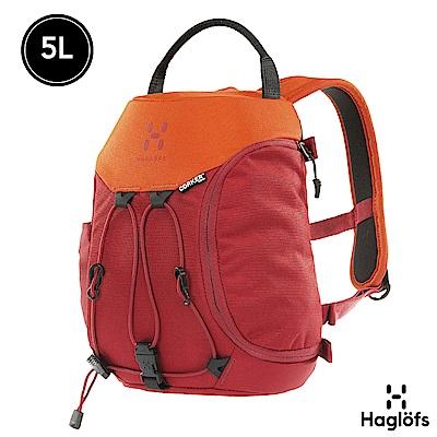 Haglofs Corker XS 5L 防潑水 迷你後背包 紅寶/橘黃